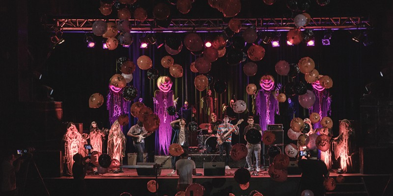 HAVING A BALL The Phoenix Theater will still employ the bombastic balloon drop at the end of its virtual Halloween Covers Show this year.