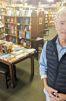 Michael Whyte stands in his San Anselmo bookstore this January, weeks before the Covid-19 pandemic forced North Bay bookstores to close for several months.