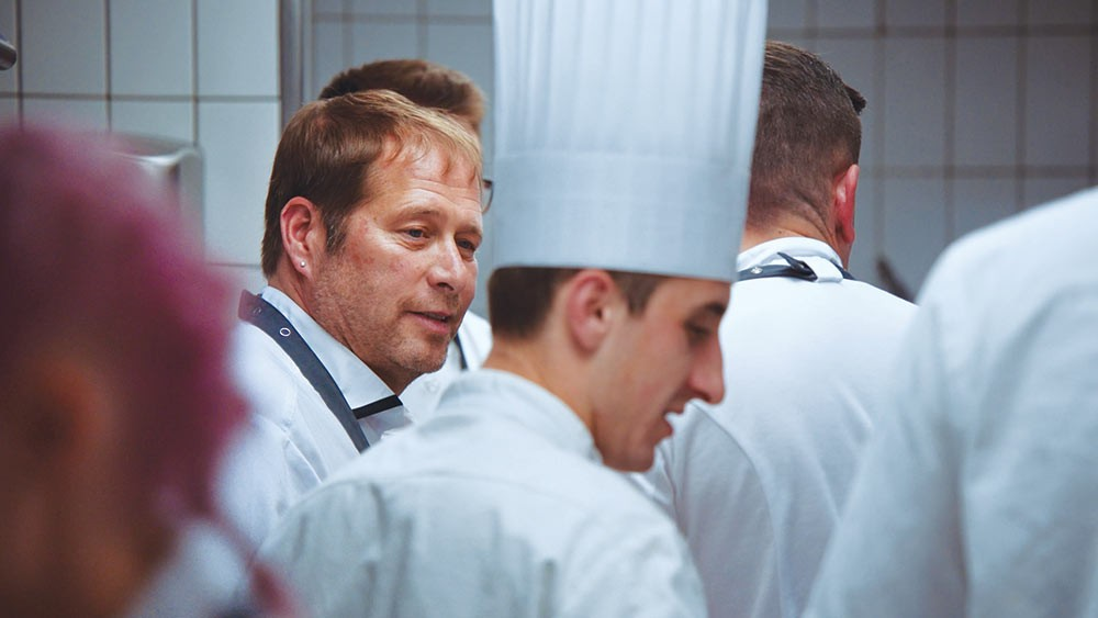 Chef David Kinch working with the French Team in 'A Chef's Journey.' - PHOTO COURTESY OF FLAPJACK FOOD ENTERTAINMENT