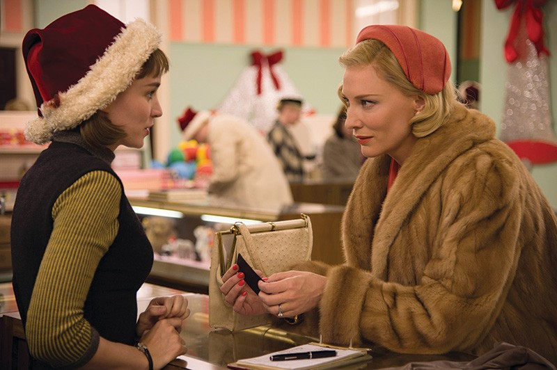 FROM CANNES TO MARIN Oscar-winning actress Cate Blanchett (right) and Rooney Mara star in the 1950s drama 'Carol,' recently shown at Cannes and now playing as part of the Mill Valley Film Festival, Oct. 8–18.