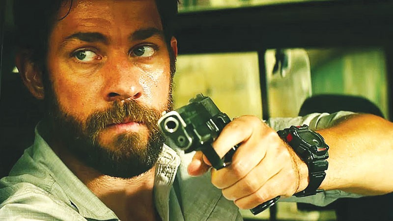 SHOOT TO KILL Nice guy John Krasinski trades his stapler for a gun in typically nonsubtle Michael Bay political thriller.