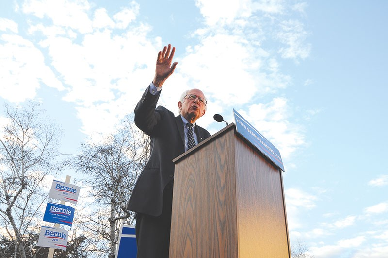 LONG SHOT TO GOT A SHOT Bernie Sanders' victory in Michigan has thrown arguments about Hillary Clinton's inevitable nomination up for debate. - ANDREW CLINE/SHUTTESTOCK.COM