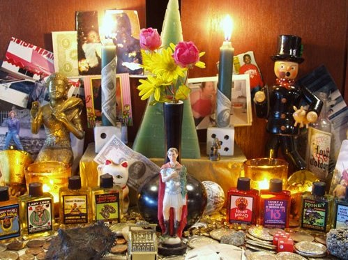 ALTER ALTAR Step into Forestville's Lucky Mojo and pick up candles and talismans for a shrine all your own.