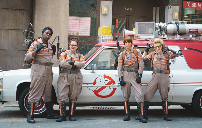 WE AIN'T AFRAID OF NO GIRLS  'Ghostbusters' fans are all mad 'cause Paul Feig cast funny women in the remake. Some people really have no life.