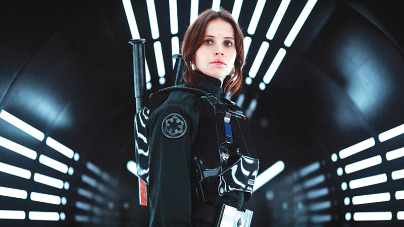 YOU'RE WELCOME  As the latest 'Star Wars' installment makes clear, Luke and crew have Felicity Jones to thank for stealing plans to the Death Star.