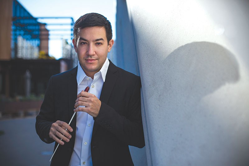 MAESTRO? Francesco Lecce-Chong is the first candidate to audition for an opening at the Santa Rosa Symphony.