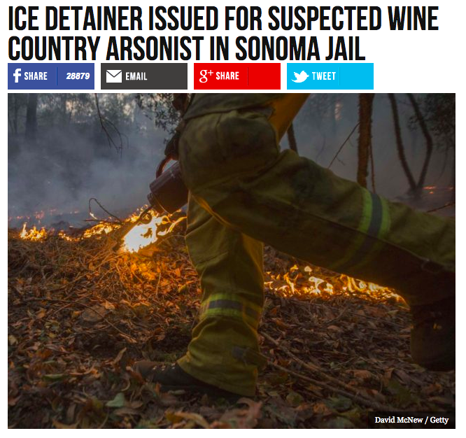 ICE official, sheriff clash over suspected Wine Country arsonist