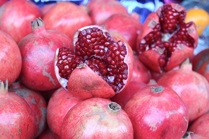 PRETTY IN PINK California grows most of the country's pomegranates.
