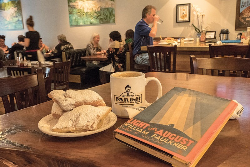 PERFECT PAIRING Channel Faulkner and New Orleans at Santa Rosa's Parish Cafe.