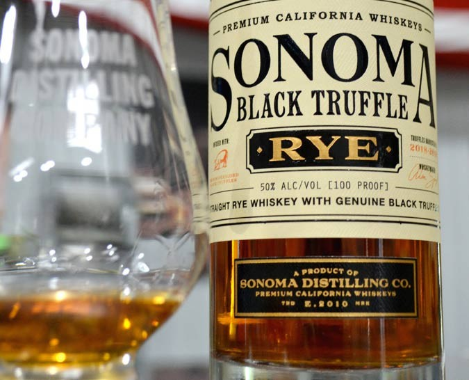 RYE GUY Sonoma Black Truffle Rye has actual French Périgord truffles steeped in it until they melt away.