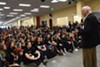 <b>THEIR MAN IN WASHINGTON</b> Before students at Credo High School walked out to protest school violence, Congressman Mike Thompson addressed the school.