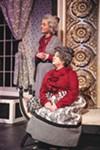 <b>MACABRE HOBBIES</b> Karen Brocker (left) and Karen Pinomaki play a pair of murderous aunts in 'Arsenic and Old Lace.'