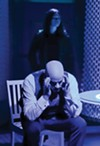 <b>TOUGH QUESTIONS</b> Leila Rosa interrogates Chris Schloemp about virtual crimes in 'The Nether.'