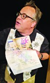 <b>Taking up Room</b> Tim Setzer plays the wine tourist from hell in Lucky Penny's latest production.