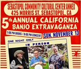 Nov. 13: Five-String Celebration in Sebastopol