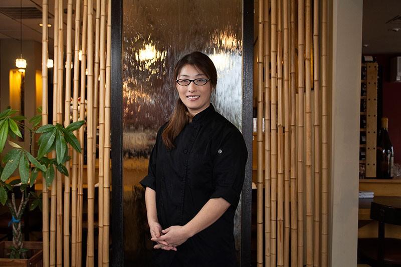 UME-VISION Owner Kelly Shu in her Windsor sushi emporium - MICHAEL AMSLER