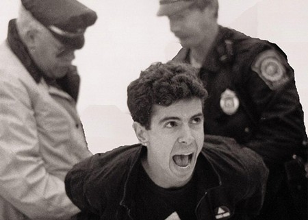 UNSILENCED AIDS activist Peter Staley is cuffed in an image from 'How to Survive a Plague.'