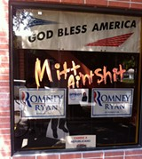 WELL, THAT SAYS IT The Republican headquarters in Santa Rosa: not a very popular place.