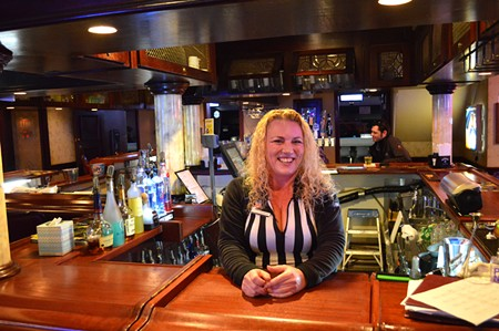 WHAT'LL YOU HAVE? Bartender Sasha Barrios at Boulevard Lanes in Petaluma, where everybody knows your name. - RACHEL DOVEY