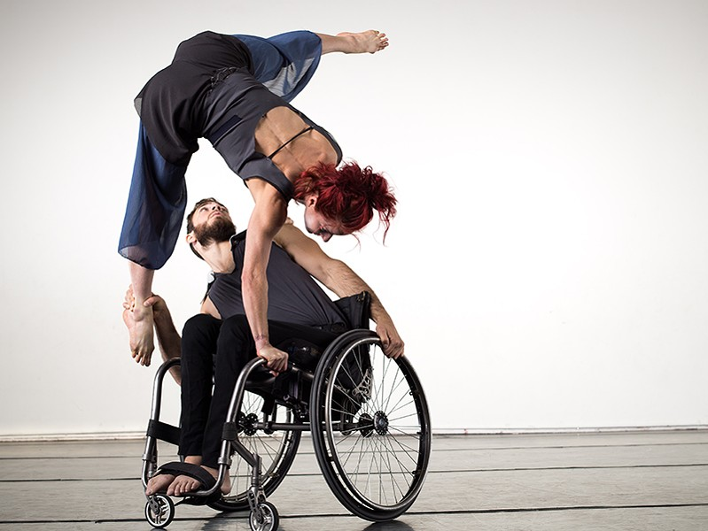 WHEEL OF FORTUNE The Axis Dance Company, which integrates dancers with and without physical disabilities, performs at SSU on Sept. 6