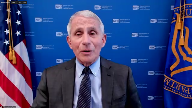 Infectious-diseases expert Dr. Anthony Fauci spoke about the state of the pandemic and vaccinations. - SCREENSHOT VIA FLORIDA INTERNATIONAL UNIVERSITY