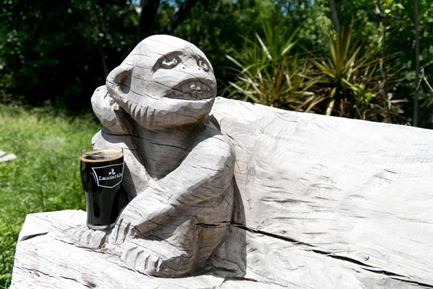 LauderAle Brewery in Dania Beach pays homage to local monkeys with merchandise, drinks, and handmade furniture. - PHOTO COURTESY OF LAUDERALE BREWERY