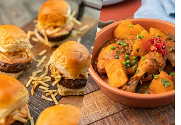 Frita sliders and arroz con pollo from Chris Valdes' Miami cookbook, One With the Kitchen. - PHOTO BY JC THROUGH THE LENS