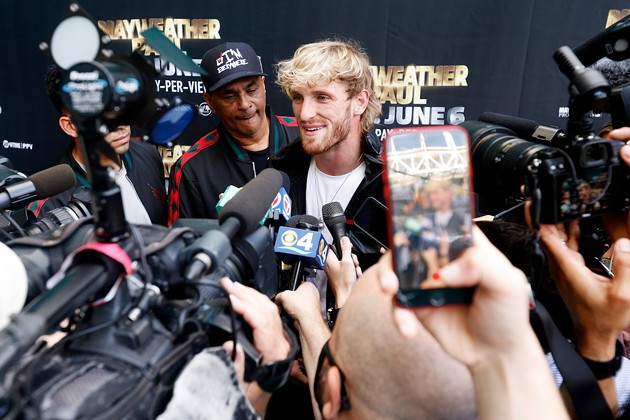 Logan Paul during a media event at the Hard Rock Stadium on May 6. - PHOTO BY CLIFF HAWKINS/GETTY IMAGES