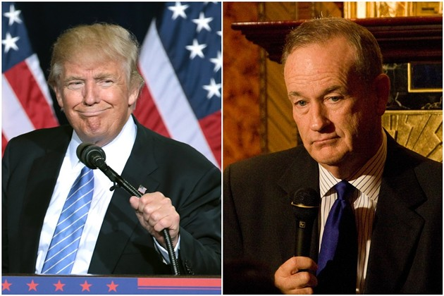 Donald Trump and Bill O'Reilly have announced dates for a speaking tour that will kick off in Broward County. - PHOTOS BY GAGE SKIDMORE AND JUSTIN HOCH/FLICKR