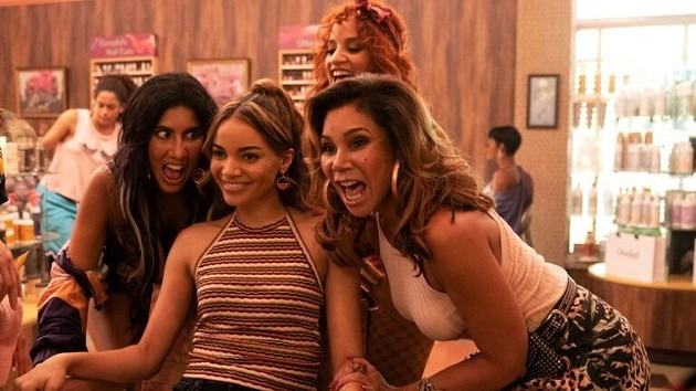 Leslie Grace (center) plays Nina Rosario in the film adaptation of In the Heights. - PHOTO COURTESY OF WARNER BROS PICTURES