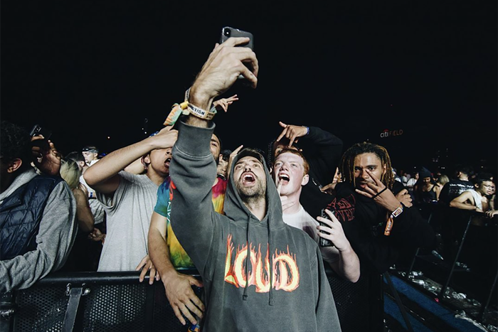 Cofounder Tariq Cherif with the crowd at Rolling Loud. - PHOTO COURTESY OF ROLLING LOUD