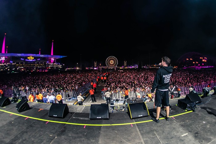 Tariq Cherif onstage at Rolling Loud. - PHOTO BY LEANNE LEUTERIO