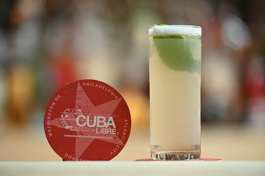 Esperanza sparkling mojito at Cuba Libre Restaurant & Rum Bar - PHOTO BY SARA ESPINOZA