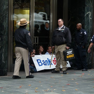 11/15/11: B of A protest. Charlotte R.A.N., Greenpeace, OccupyCLT