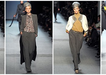 Jean Paul Gaultier's fall collection not age-specific, despite gray wigs