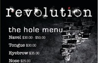 Get a hole at Revolution's piercing spa