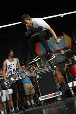 3Oh!3 at the Vans Warped Tour at Verizon Wireless Amphitheatre on July 23.