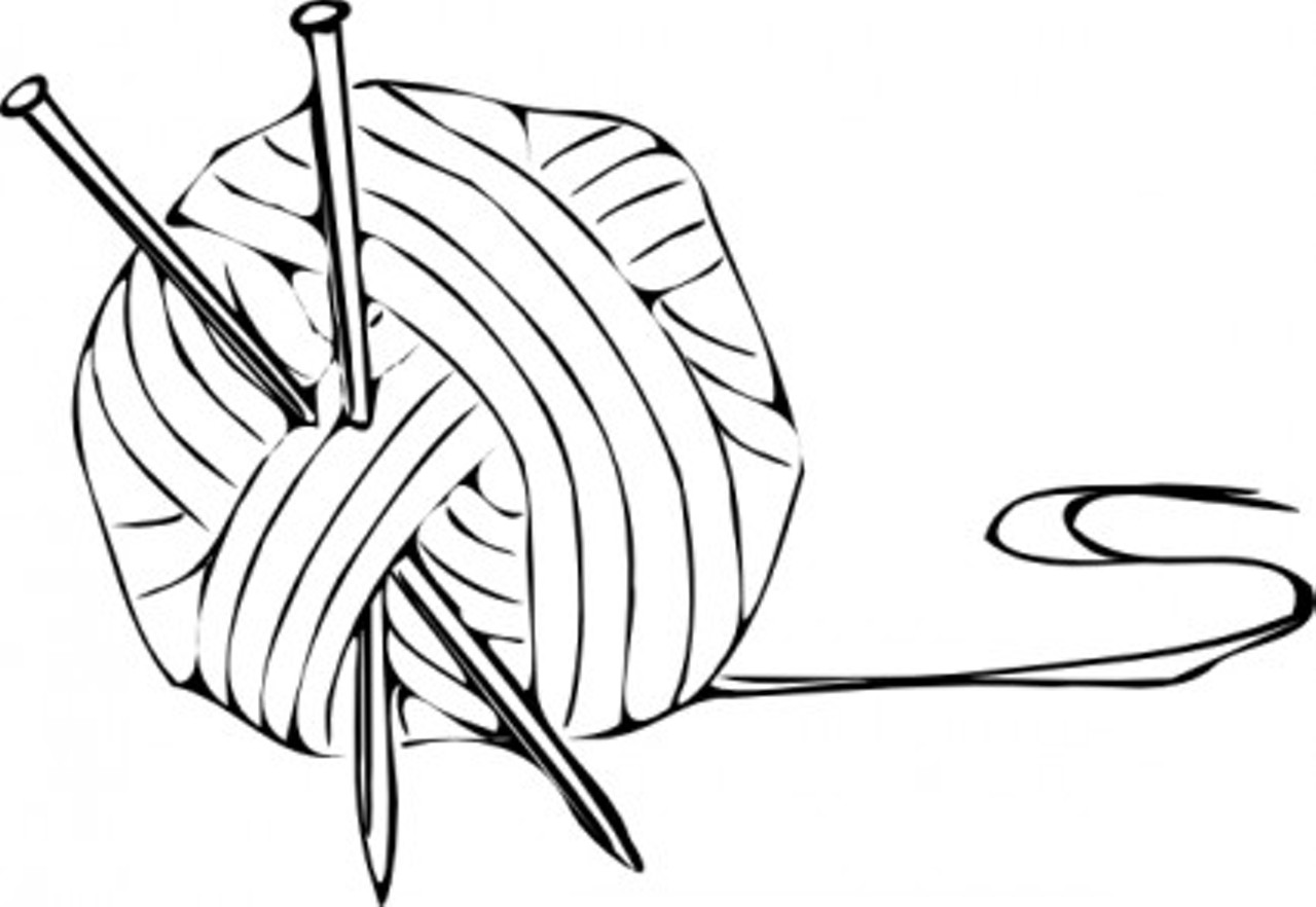 Yarn Clipart Black And White click to enlarge