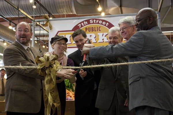 City leaders cut the ribbon, declaring the market is now open.