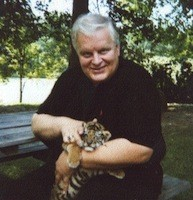 Charlotte author Harvey Burgess and friend