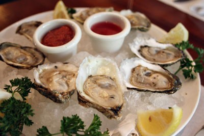 A dozen oysters at McCormick & Schmick  -  yes, please