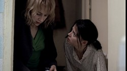 IFC FILMS - A FRIEND IN NEED: Otilia (Anamaria Marinca, left) helps Gabita (Laura Vasiliu) deal with a difficult situation in 4 Months, 3 Weeks and 2 Days.