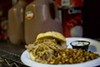 <p>A FULL MEAL: Piling it on at Fort Mill BBQ Company.</p>