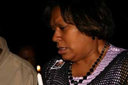 JASIATIC - A GRIEF OBSERVED: Darryl Turner's mother, Tammy Fontenot, grieves at a March vigil days after the teen's death.