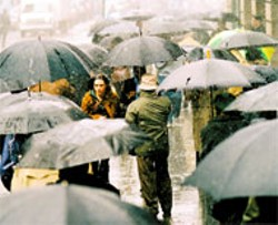 TOUCHSTONE - A HARD RAIN'S A-GONNA FALL Jennifer Connelly - seeks shelter from her fears in Dark Water -