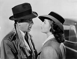 WARNER BROS. - A KISS IS STILL A KISS: Rick (Humphrey Bogart) and Ilsa (Ingrid Bergman) will always have Paris.