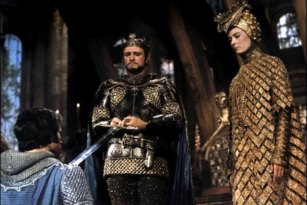A KNIGHT TO REMEMBER: Franco Nero (kneeling), Richard Harris and Vanessa Redgrave in Camelot (Photo: Warner Bros.)