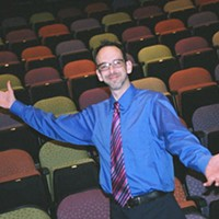 A LIFE IN THE THEATER: Alan Poindexter, in his element