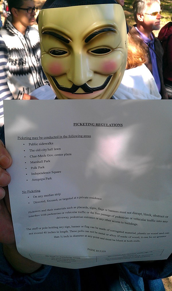 A list of picketing regulations was circulated. (More photos: http://bit.ly/qHgOu4)