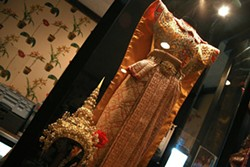 CATALINA KULCZAR - A LITTLE BIT OF CULTURE WITH THAT MEAL: A traditional Thai dancer's costume in the Thai Orchid.